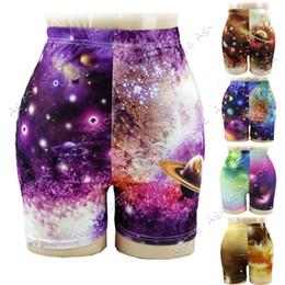 Wholesale New Fashion Women s Starry Sky The Universe Short Pants Tight Legging Trousers