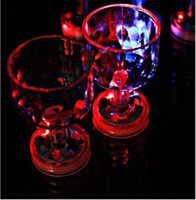 PE goblet - Colorful Changed LED Flashing Acrylic Goblet Cup for Bar Party Supplies