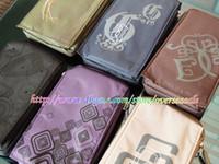 Wholesale Universal Zipper Flip Wallet Key credit card Purse Big Mobile Cell cellphone phone Soft cloth case bag pouch cover bags cases