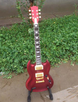 Solid Body 6 Strings Mahogany New brand SG electric guitar with gold hardware in red color