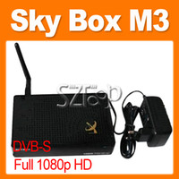 Wholesale Skybox M3 satellite Receiver HD Full P IPTV Support USB Wifi Youtube
