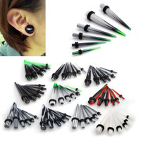 Wholesale Hot Fashion Acrylic Tapers Ear Plugs Gauge Stretching Kit mm Style Mix BC63