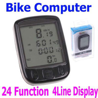 Wholesale 5PCS Hot Sale Waterproof big LCD Cycling Bike Bicycle Computer Odometer Speedometer with Functions