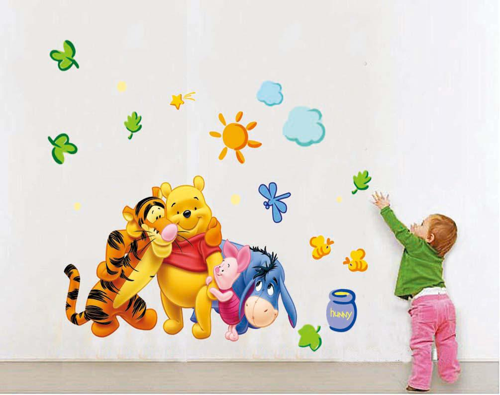 2016 new removable wall stickers my friends tigger and for Baby pooh and friends wall mural