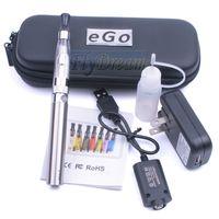 Wholesale EGO T EGO CE6 E Cigarette Starter Kits Electronic Cigarettes CE6 Kits Joyetech eGo Cigarette CE6 Atomizer CE4 Cartomizer Zipper Case
