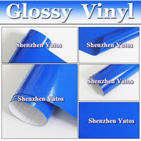 Wholesale Blue Glossy PVC Vinyl Film Car Wrap Sheet With Bubble Free Size M