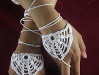 Wholesale bridesmaid bride fingerless gloves Crochet patterns gloves wedding Lace bridesmaid bride steampunk Hand decoration