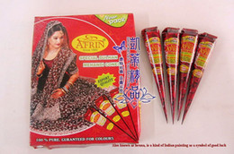 Wholesale New Indian Henna Tattoo Paste Tube Cone Body Art Temporary