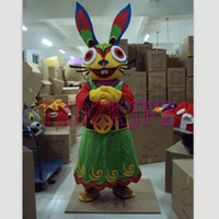 easter bunny costumes - New Cute Female Fortune Rabbit Mascot Costume Fortune Easter Bunny Costume