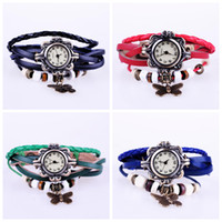 Wholesale 2013 new style ladies vintage punk genuine leather butterfly bracelet watch fashion quartz watch C1263