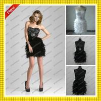 Custom Made 2013 Black White New Cheap Bling Bling Sequins B...