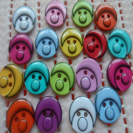 Wholesale Free ship mm mix colour Smurfs clown holes resin buttons for children fashion clothes sewing scrapbook