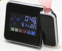Digital weather station - Colorful Digital Weather Station LCD LED Projector Alarm Clock