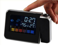 Digital Alarm Clocks  Colorful Digital Weather Station LCD LED Projector Alarm Clock 50pcs lot