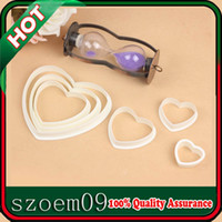 Wholesale 6 Size Love Heart Shape D Fondant Cake Sugarcraft Biscuit Cookie Decorating Cutter Mold