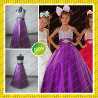 2013 Actual Images Tulle A- Line Bling Bling Beaded Purple Ha...