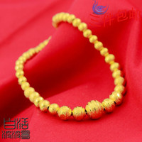 Wholesale Gold plated bracelet hollow elongated transfer beads imitation gold alluvial gold jewelry boutique women K gold plated gold wedding