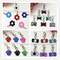 Wholesale New styel pet dog cat ID tag accessories paw shape flower shape bone shape bow shape mixed styles