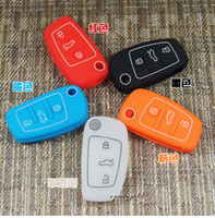 Wholesale car remote key case cover wallet silica gel many colours for Audi A4L A5 Q5 S5 A8L