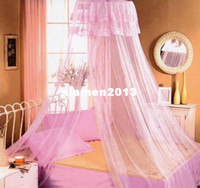 Adults other other Brand New High Qulity Bed Canopy Netting Curtain Dome Fly Mosquito Midges Insect Stopping Net Outdoor Freeshipping Dropshipping