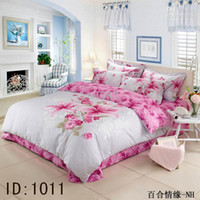 Adult Twill 100% Cotton 13 style EMS-shppping A Grade Cotton Reactive dyeing printed Plum Flower Floral Bedding set Quilt Cover Flat Sheet Pillow Case Bed in a bag