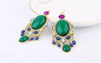 Wholesale The European and American fashion accessories manufacturer direct selling Bohemian national colour elegant earrings