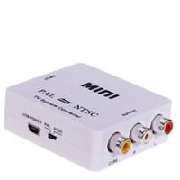 Wholesale PAL NTSC SECAM to PAL NTSC MINI TV Bi directional Format System Converter New