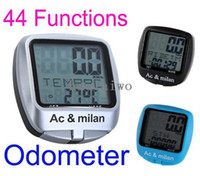 Wholesale New Multifunctional Outdoor LCD backlight Bicycle Odometer Speedometer bike Computer Multi language English German Spanish