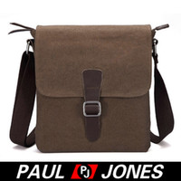 Wholesale New Arrival High Qaulity Canvas Cow Leather Men Canvas Bag Shoulder Messenger Bag Tote BG594