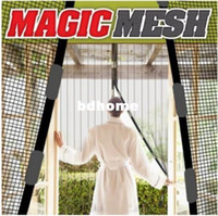 Wholesale Magic Door Mesh stops Insect Bug Fly Wasp Moth Screen Magnetic Door Net Curtain