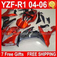 7 Free gifts Orange black For YAMAYA YZFR1 04- 06 YZF- R1 YZF1...