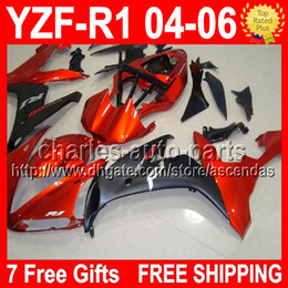 Wholesale 7 Free gifts Orange black For YAMAYA YZFR1 YZF R1 YZF1000 CMF2091 YZF YZF R1 YZF Orange Fairing Kit