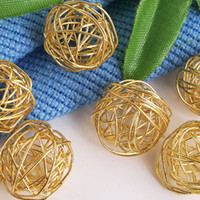 Wholesale HOT DIY mm Gold Plated Metal Filigree Ball Beads Spacers Fashion Jewelry Bead Spacers amp Findings