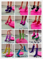 Wholesale Mix Pairs Doll Shoes High Quality Toy Accessaries Different styles Doll Shoes For quot Barbie Dolls