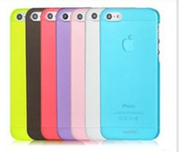 al por mayor cubierta del iphone 4s cáscara dura-DHL LIBERAN los casos duros mate de la piel de la piel de la cubierta del ultra fino delgado 0.3MM de la PC para el iPhone 4 / 4S 5 5G 5C 5S