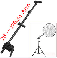 Wholesale Photography Studio Light Reflector lamp plate mount Disc Grip holder cm Holding cross Arm boom stand photographicequipment free shipp