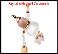 Wholesale Crystal bottle gourd Car Hanging Pendant with by DHL freeshipping as a Christmas birthday gift Car pendants