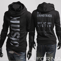 Wholesale 2811 New Men s Casual Slim personalized letters printed pullover Hoodies amp Sweatshirts