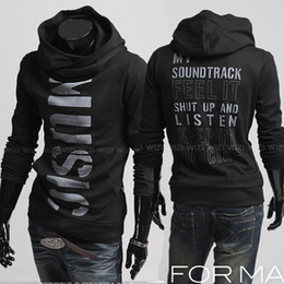 Wholesale 2811 New Men s Casual Slim personalized letters printed pullover Hoodies Sweatshirts