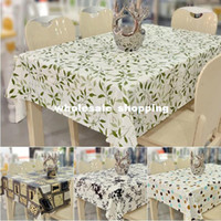 Wholesale PVC table cloth disposable waterproof oil heatresisting dinning tablecloth designs Drop shipping