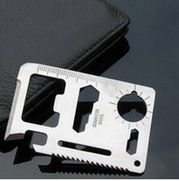 Wholesale Camping Survival Knife Pocket saber Card Outdoor functions in Multifunction Tool Creative Opener
