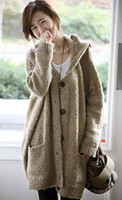 Wholesale 2013 spring women s plus size hooded cardigan sweater outerwear loose long design