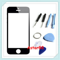 For Apple iPhone Touch Screen Black Brand New Replacement Front LCD Screen Glass Lens Cover for Apple iphone 5 5G Black with Repair Tool Kits and Adhesives, Free Shipping