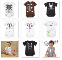 Boy baby bottle sample - high quality sample pc baby bodysuit toddler rompers costume newborn one piece romper shirts short sleeve jumpsuit babywear D14