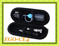 Single Black Electronic Cigarette Cheap EGo-CE4+ ego kit 650mah 900mah 1100mAH electronic cigarette 1.6ml Detachable Atomizer CE4 zipper case ego-t colourful battery