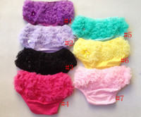 Wholesale cute baby cotton bloomers with nice and soft chiffon ruffle baby girls princess diaper cover cotton colors
