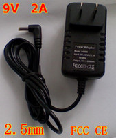 Wholesale 9V A US EU plug charger for Yuandao N80 ainol novo8 aoson M19 tablet pc