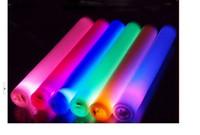 Wholesale 100pcs cm quot led foam stick flashing foam stick light up cheering foam stick foam glow stick led