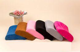 Acheter en ligne Oreillers de soutien lombaire-Slow Rebound Coussin en mousse à mémoire Office Chair de voiture Lumbar Back Support Pillow Pad Hasp Design