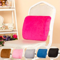 Wholesale Slow Rebound Memory Foam Cushion Office Car Chair Lumbar Back Support Pillow Pad Hasp Design